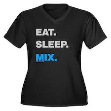 Eat Sleep Mix Women's Plus Size V-Neck Dark T-Shir