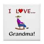 I Love Grandma Tile Coaster