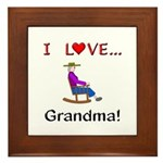 I Love Grandma Framed Tile