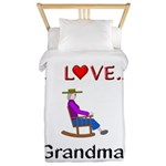 I Love Grandma Twin Duvet