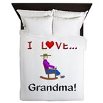 I Love Grandma Queen Duvet