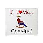I Love Grandpa Throw Blanket