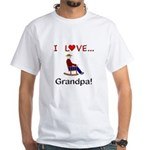 I Love Grandpa White T-Shirt
