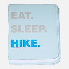 Eat Sleep Hike baby blanket