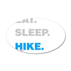 Eat Sleep Hike Wall Decal