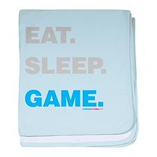 Eat Sleep Game baby blanket