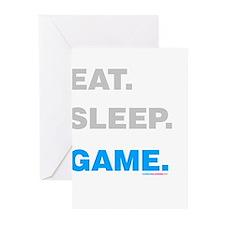 Eat Sleep Game Greeting Cards (Pk of 20)