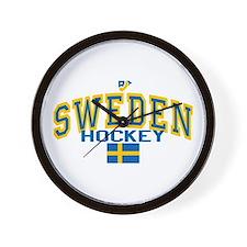 Sweden Hockey/Sverige Ishockey Wall Clock