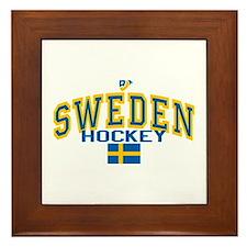 Sweden Hockey/Sverige Ishockey Framed Tile