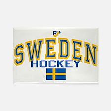 Sweden Hockey/Sverige Ishockey Rectangle Magnet
