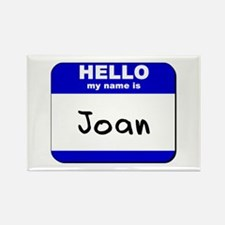 hello my name is joan Rectangle Magnet