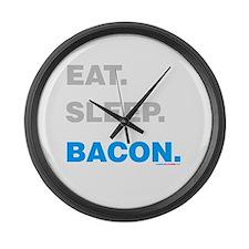 Eat Sleep Bacon Large Wall Clock