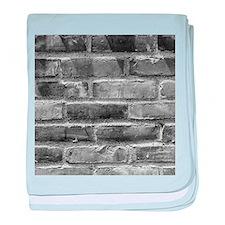 Brick Wall 10 baby blanket