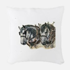 grayWor2.jpg Woven Throw Pillow