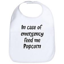Feed me Popcorn Bib