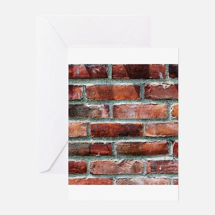 Brick Wall 1 Greeting Cards