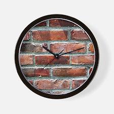 Brick Wall 1 Wall Clock