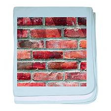 Brick Wall 1 baby blanket