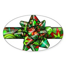 Red & Green Paisley Bow Decal