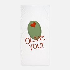 olive you.png Beach Towel