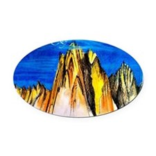 Fitz Roy  Oval Car Magnet