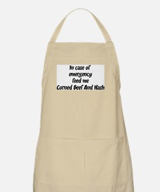 Feed me Corned Beef And Hash BBQ Apron
