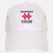 Acceptance Is The Cure Baseball Baseball Cap