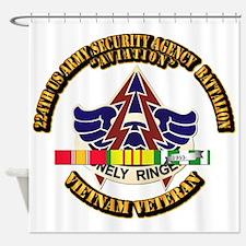 DUI - 224th USA Security Agency Bn w SVC Ribbon Sh