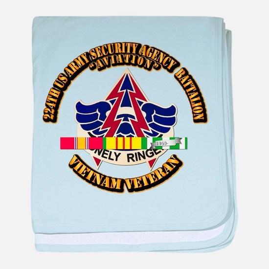 DUI - 224th USA Security Agency Bn w SVC Ribbon ba