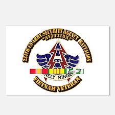 DUI - 224th USA Security Agency Bn w SVC Ribbon Po
