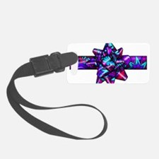 Violet Paisley Bow Luggage Tag