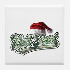 Christmas Wall Street Tile Coaster