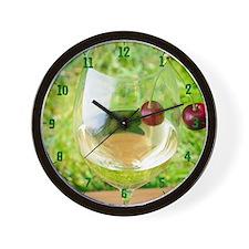 Wine and Cherry Wall Clock