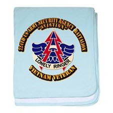 DUI - 224th USA Security Agency Bn baby blanket