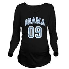 obama09ltblu.png Long Sleeve Maternity T-Shirt