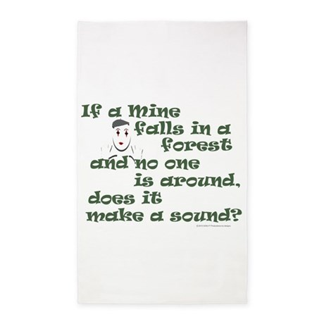 If a Mime Falls in the Forest 3'x5' Area Rug