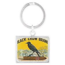 Black Crow Brand Quality Cigar Landscape Keychain