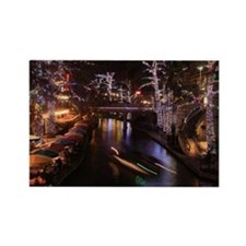 New Lights San Antonio Riverwalk  Rectangle Magnet