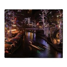 New Lights San Antonio Riverwalk 201 Throw Blanket