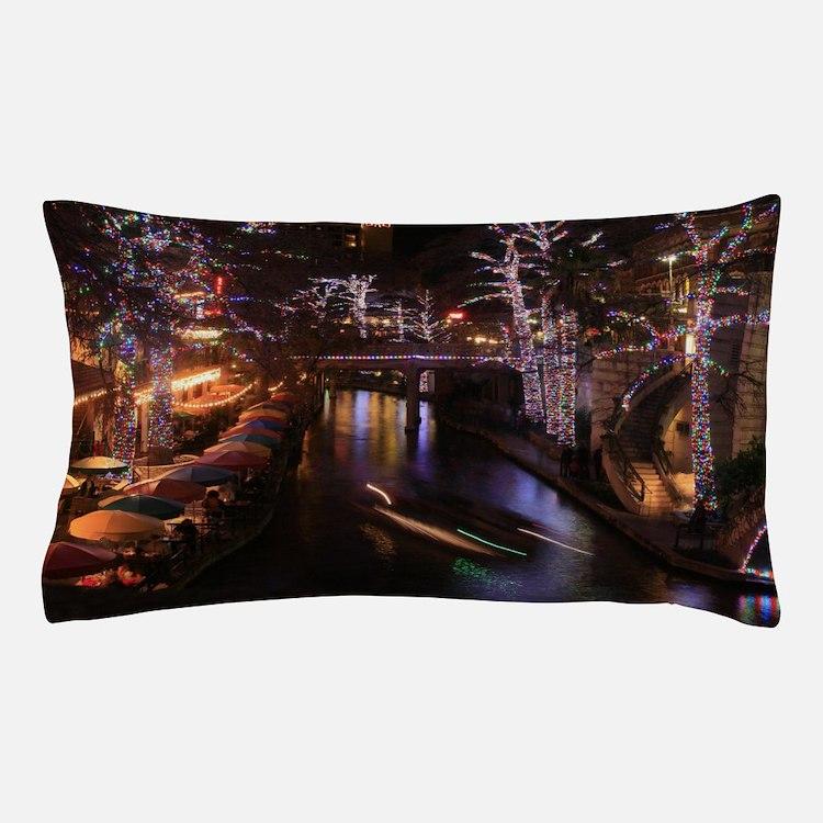 New Lights San Antonio Riverwalk 2010 Pillow Case