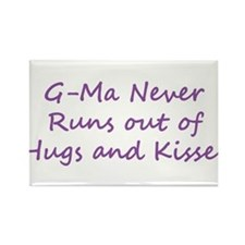 G Ma Hugs and Kisses Rectangle Magnet