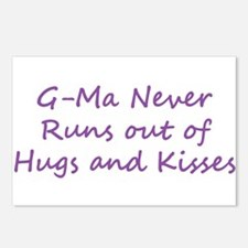 G Ma Hugs and Kisses Postcards (Package of 8)