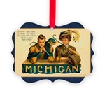Vintage Michigan Picture Ornament