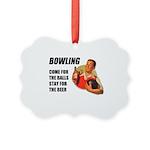 Vintage Bowling Picture Ornament