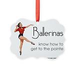 Vintage Ballerina Picture Ornament