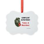 Complaint Department Picture Ornament