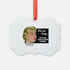 Vintage Woman Ornament
