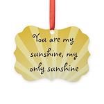 Vintage Sunshine Picture Ornament