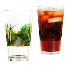 Hiking Trail Drinking Glass