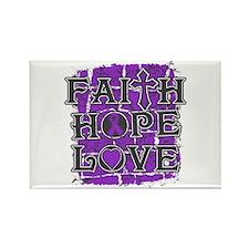 Fibromyalgia Faith Hope Love Rectangle Magnet